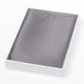 Seiden Einstecktuch grau/silber